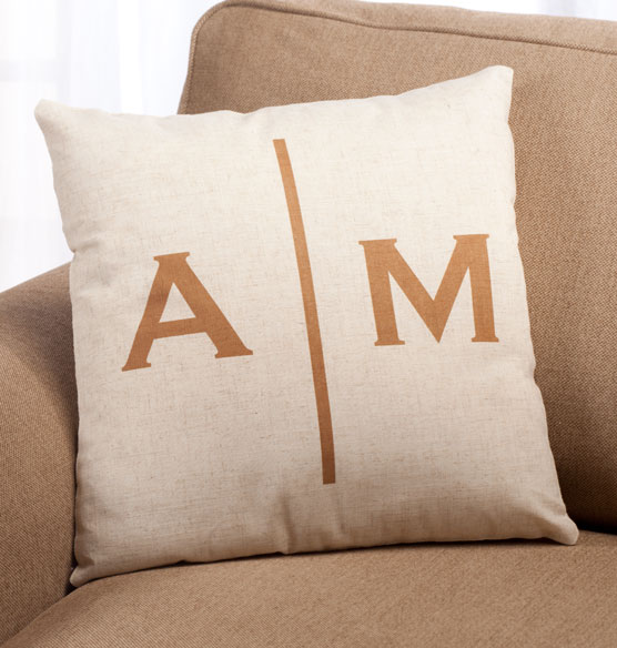 Double Monogram Pillow 18 x 18