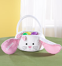 Easter - Personalized Gingham Easter Bunny Basket