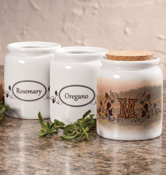 Personalized Tuscan Sunset Spice Holder - View 1