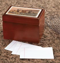 Personalized Tuscan Sunset Recipe Box