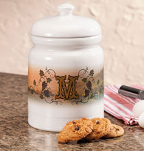 Gifts for the Foodie - Personalized Tuscan Sunset Cookie jar