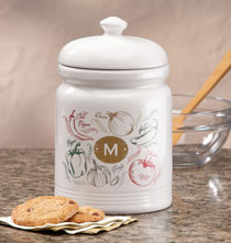 Gifts for the Foodie - Personalized Farmers Market Salsa Cookie jar