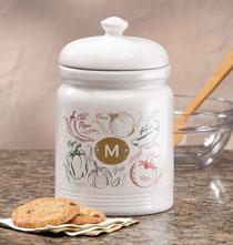 Personalized Farmers Market Salsa Cookie jar