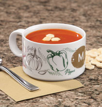 Gifts for the Foodie - Personalized Farmers Market Salsa Soup Bowl