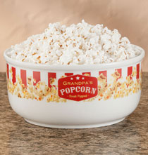 Gifts for Grandparents - Personalized Popcorn Serving Bowl