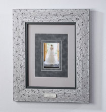 Wedding Essentials - Custom Triple Mat Contemporary Nickel Frame