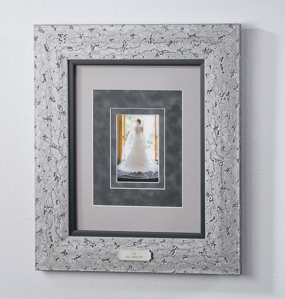 Custom Triple Mat Contemporary Nickel Frame