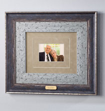 Anniversary Gifts - Custom Triple Mat Burnished Nickel Frame