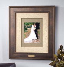 Wedding Gifts - Custom Triple Mat Bronze Frame