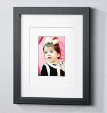Gallery Frames - Perfect Frame with White Triple Mat with Personalized Plaque