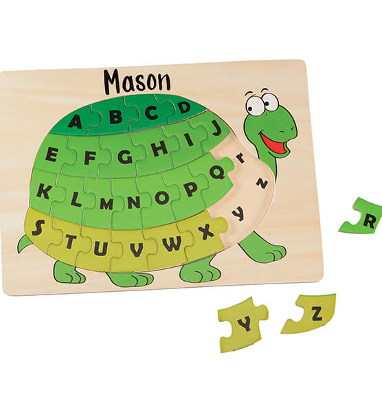 Personalized Turtle Alphabet Puzzle