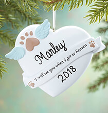 Personalized Pet in Heaven Ornament