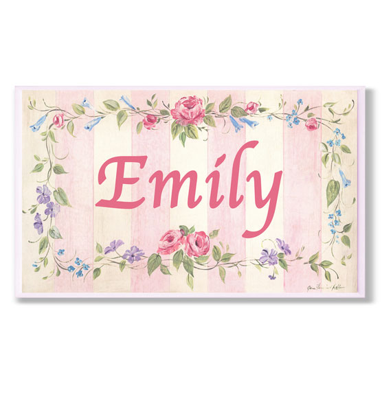 Personalized Rose Stripe Name Plaque
