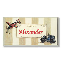 Personalized Wall Décor - Personalized License Plate Name Plaque
