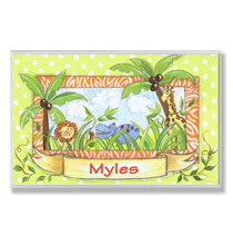 Personalized Wall Décor - Personalized Animal Safari Name Plaque
