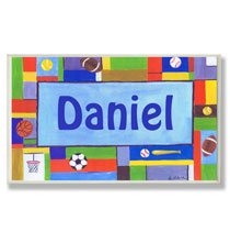 Personalized Wall Décor - Personalized Sports Name Plaque