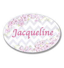 Personalized Wall Décor - Personalized Pink Daisy Name Plaque