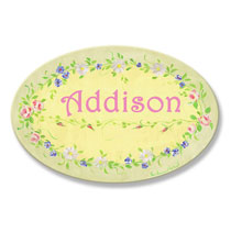 Personalized Wall Décor - Personalized Spring Flower Plaque