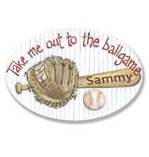 Personalized Wall Décor - Personalized Baseball Name Plaque