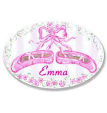 Personalized Wall Décor - Personalized Ballet Slipper Name Plaque
