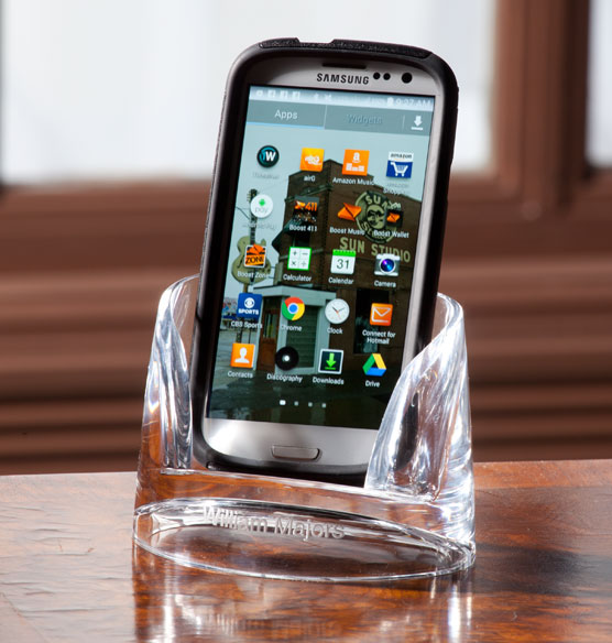 Personalized Clearylic Mobile Phone Holder