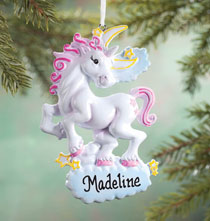 Holiday Ornaments - Personalized Unicorn Ornament