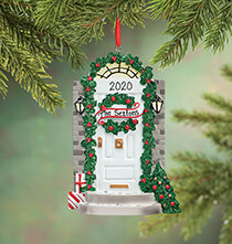 Holiday Ornaments - Personalized Front Door Ornament