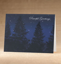 Holiday Cards - Peaceful Evening Holiday Cards - Set of 18