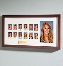 Unique Frames - Personalized Walnut School Years Frame