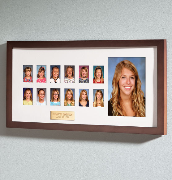 Personalized Walnut School Years Frame