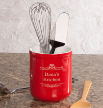 Personalized Kitchen Gifts - Personalized Utility Crock