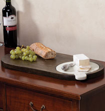 Personalized Kitchen Gifts - Marble and Wood Cheese Board