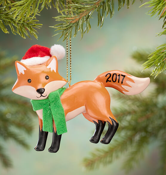 Personalized Woodland Fox Ornament