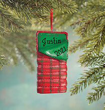 Holiday Décor - Personalized Sleeping Bag Ornament