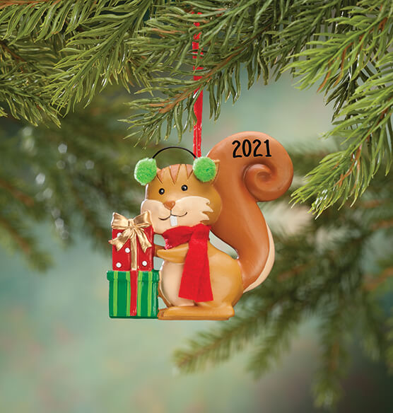 Personalized Woodland Squirrel Ornament