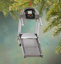 Holiday Ornaments - Personalized Treadmill Ornament