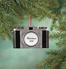 Holiday Ornaments - Personalized Camera Ornament