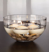 Anniversary Gifts - Personalized Glass Statement Bowl