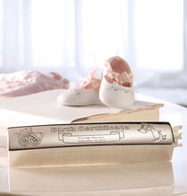 Gifts Under $50 - Personalized Birth Certificate Box