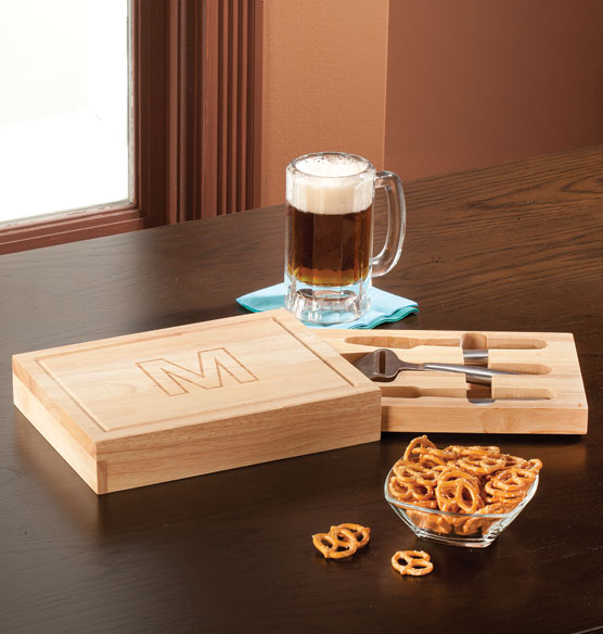 Personalized Rectangular Cheese board with Tools