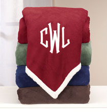 Pillows, Blankets & Throws - Personalized Ultra Plush Sherpa Throw by OakRidge™
