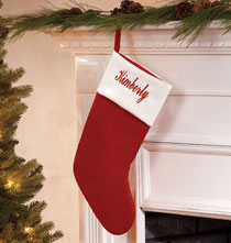Personalized Red Velvet Christmas Stocking