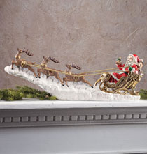 Gifts for Occasions - Santa in Sleigh Sculpture