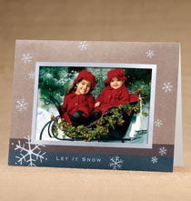 Holiday Cards - Let It Snow Photo Christmas Holiday Cards Set of 18