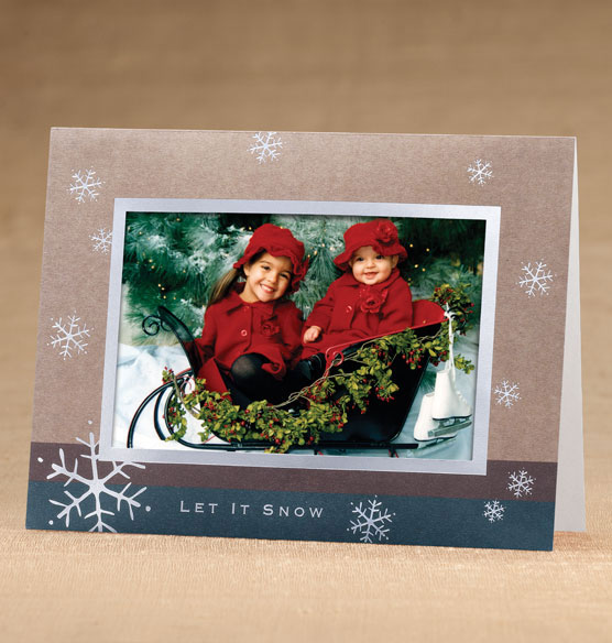 Let It Snow Photo Christmas Holiday Cards Set of 18