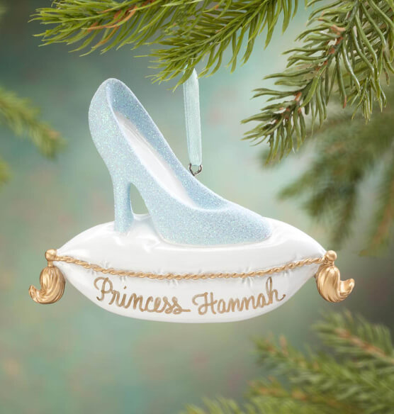 Personalized Glass Slipper Ornament