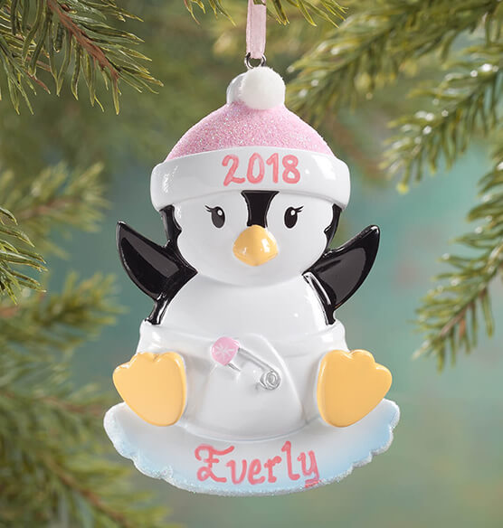 Personalized Baby Penguin Ornament - View 1
