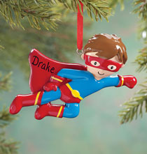 Personalized Super Hero Ornament