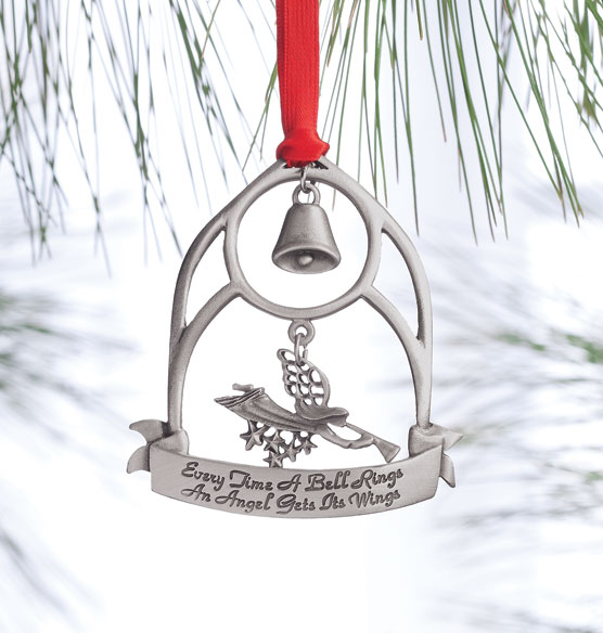 Quot every time a bell rings pewter ornament exposures