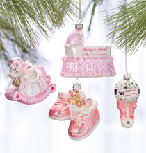 Baby's First Christmas Ornament Gift Set